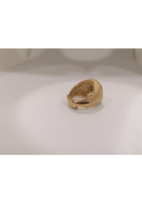 Gold plated St Januarius San Gennaro ring Scognamiglio Gioielli | Anello | QUADRATOSAN GENNARO