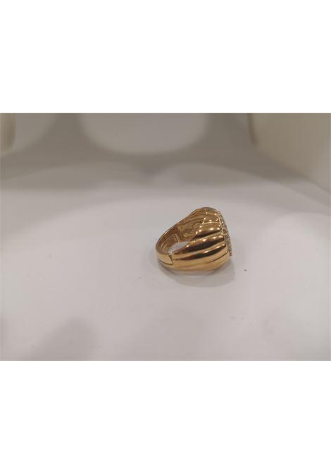 Gold plated zirconia ring Scognamiglio Gioielli | Rings | TONDO KZKZ