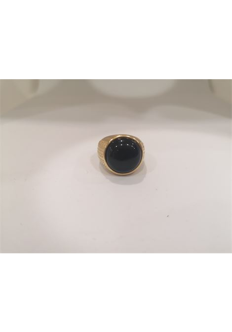 Gold plated onyx ring Scognamiglio Gioielli | Anello | TONDO KZONYX