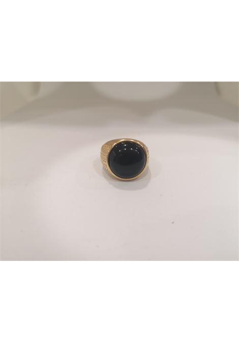 Gold plated onyx ring Scognamiglio Gioielli | Rings | TONDO KZONYX