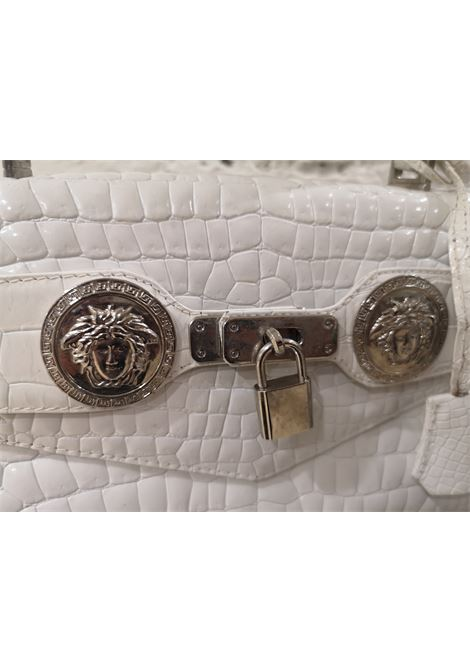 Gianni Versace white leather cocco handle shoulder bag Versace | Borsa | AT02055FC0SBIANCO