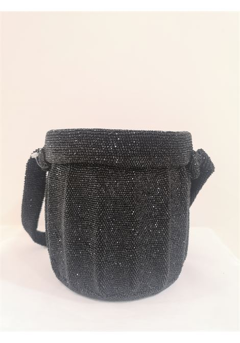 1980s Black beads satchel VIntage | Borsa | AT020XSFV25EG0NERO