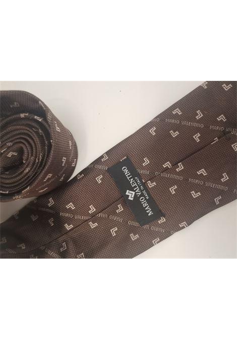 Mario Valentino brown silk tie VIntage | Cravatta | CRAVATTA18