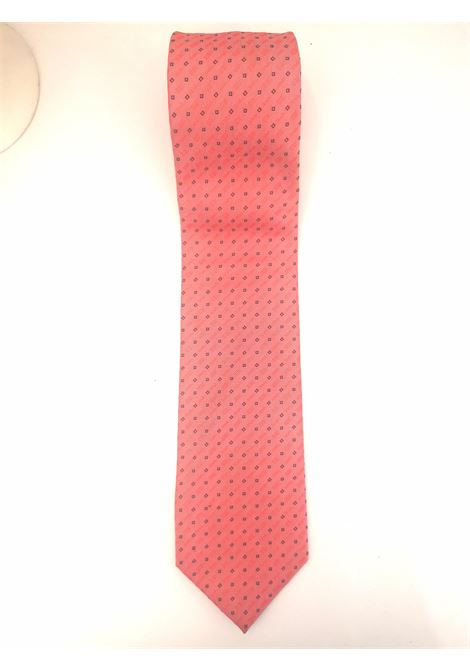 Doppelgander red multi silk tie VIntage |  | CRAVATTA1