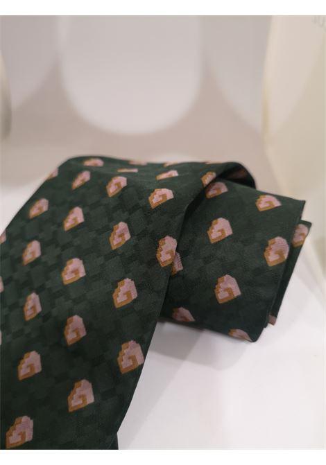 Goi & Goi green silk tie VIntage | Cravatta | CRAVATTA22