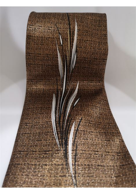 Xing Yuan brown leaf silk tie VIntage |  | CRAVATTA27