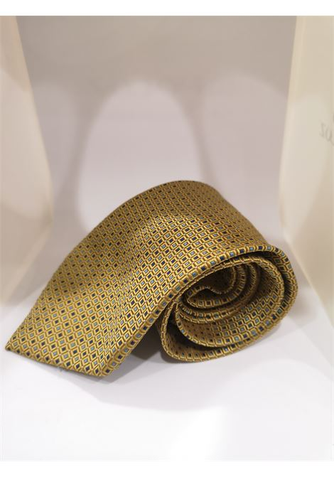 Target gold blue silk tie VIntage |  | CRAVATTA37