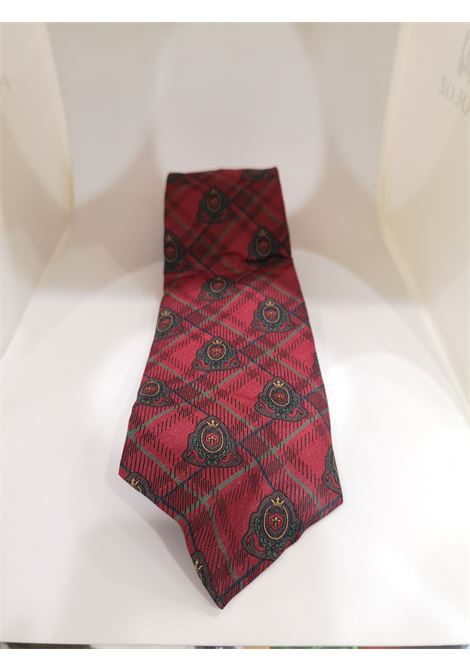 Stefano Rosi red multicoloured silk tie VIntage | Cravatta | CRAVATTA40