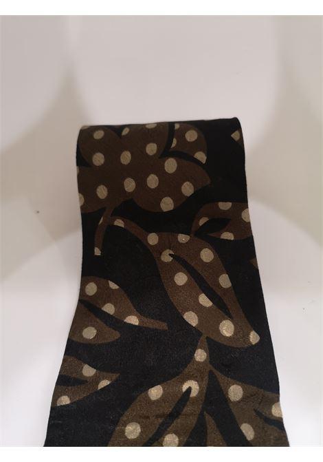 Hubert black and brown silk tie VIntage | Cravatta | CRAVATTA44