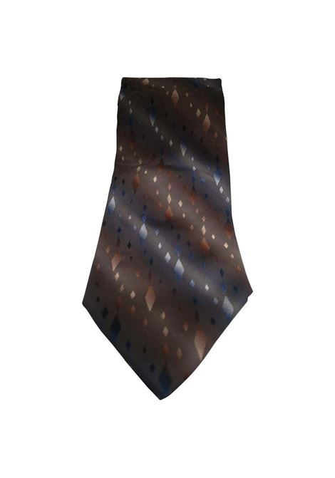 Piattelli grey multicoloured silk tie VIntage | Cravatta | CRAVATTA48