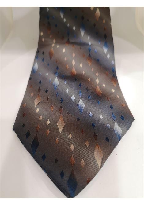 Piattelli grey multicoloured silk tie VIntage |  | CRAVATTA48