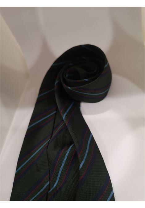 Green multicoloured silk tie VIntage |  | CRAVATTA52