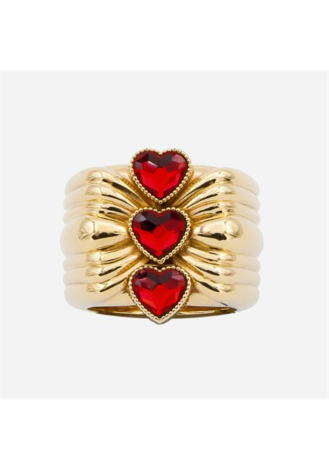 Red hearts ring Acchitto | Rings | CORECINITRE CUORI