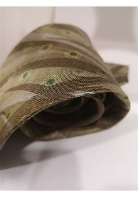 Boss light green multicoloured silk tie Boss | Cravatta | MARRONEMULTI111