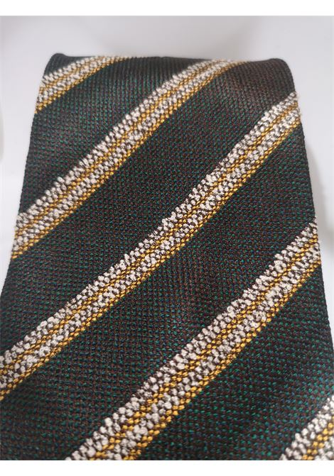 Boss green multicoloured tie Boss | Cravatta | MARRONEVERDE MULTI1