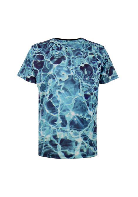 Butnot t-shirt acqua Butnot | Maglia | U9505ACQUA PATCH