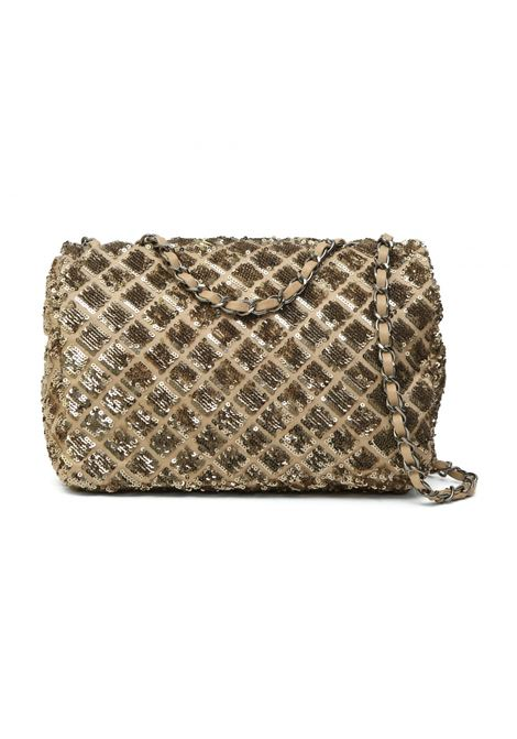 Chanel beige gold sequins 2.55 shoulder bag Chanel | Borsa | 2.55 PAIETTESPAIETTES