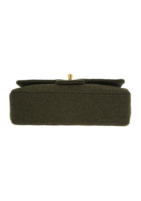 Chanel timeless 23cm green wool shoulder bag Chanel | Borsa | 23 WOOLVERDE