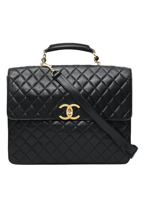 Chanel vintage black leather 24h handbag Chanel | Borsa | 24HNERO