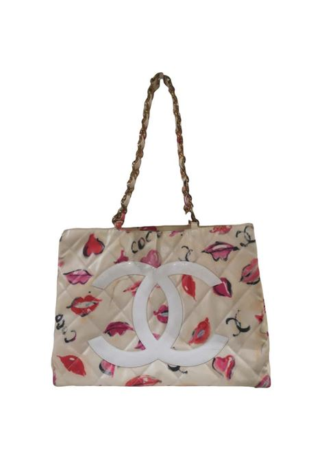 Chanel coated canvas quilted Lips and Kisses Graffiti tote shoulder bag Chanel | Bags | AMGV021029KOOBACI
