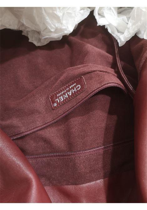Chanel Burgundy leather silver hardware shoulder bag Chanel | Bags | AMGV02123KSAOBORDEAUX