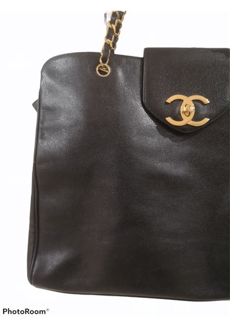 Chanel black leather gold hardware maxi shopping bag Chanel | Bags | AMGV0214K0CSNERO