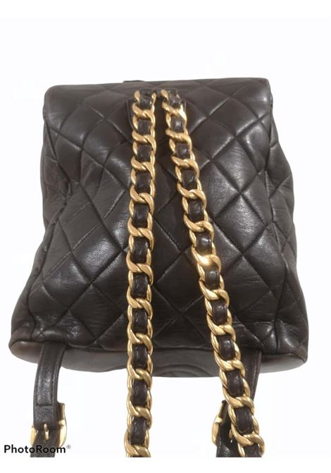Chanel black leather gold CC logo hardware  Chanel | Backpacks | AMGV021XS29EC00NERO