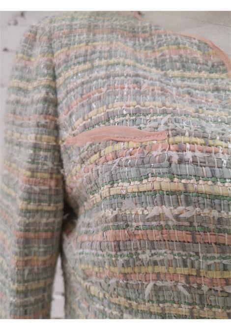 Chanel coloured jacket Chanel | Jackets | AT021XS1250GTVMULTI ROSA CELESTE