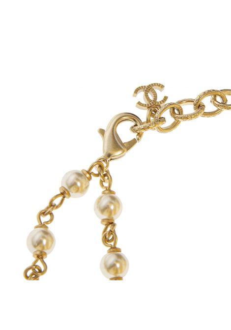 Chanel Necklace multicoloured stones white faux pearls Chanel | Collana | COLLANA GRIPOIXORO