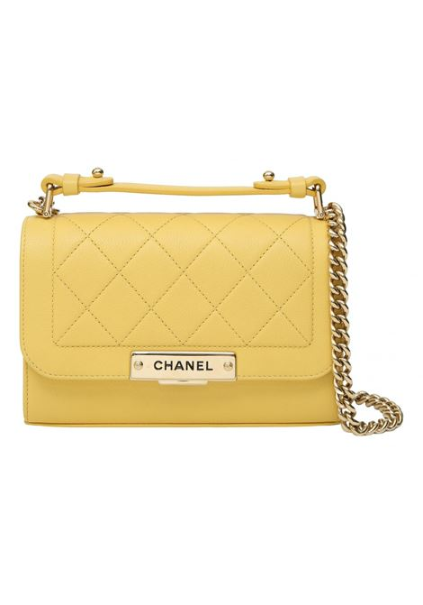 Chanel yellow leather crossbody shoulder bag Chanel | Borsa | GIALLAPELLE