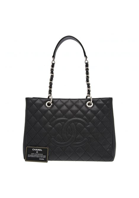 Chanel GST Black leather shoulder bag Chanel | Borsa | GSTNERO