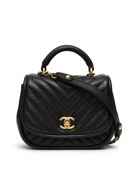 Chanel black mini lady chevron shoulder bag Chanel | Borsa | MINI LADY CHEVRONNERO