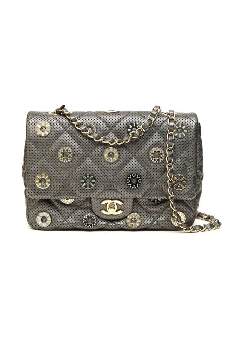 Chanel Texas Paris Collection bronze leather shoulder bag Chanel | Borsa | PARIS TEXASARGENTO