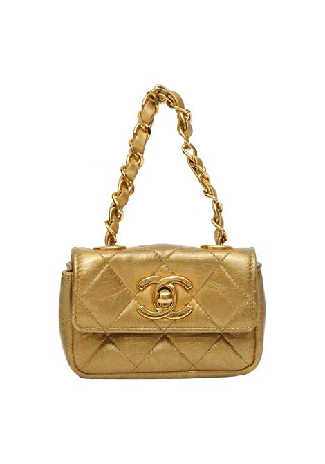 Chanel gold leather minaudièr handbag Chanel | Borsa | SMALL GOLDMINI