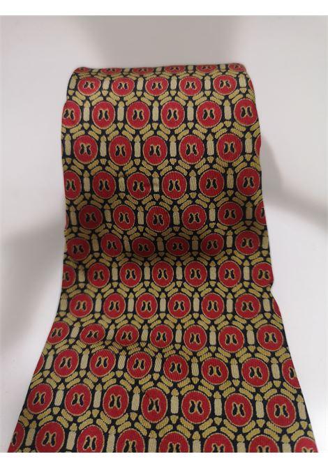 Christian Dior red multicoloured silk tie Christian Dior | Cravatta | MULTIORO ROSSO