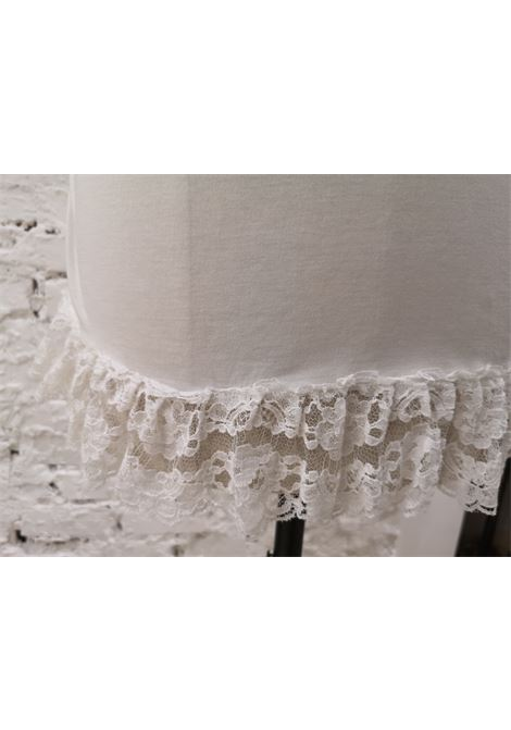 Dolce & Gabbana white lace cotton t-shirt Dolce&Gabbana | T-Shirts | AC02170XSBIANCA PIZZO