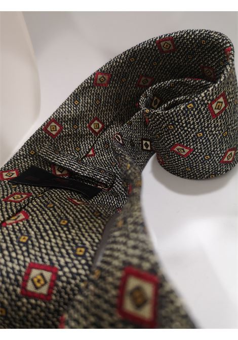 Etro grey multicolured tie Etro | Cravatta | GRIGIO-