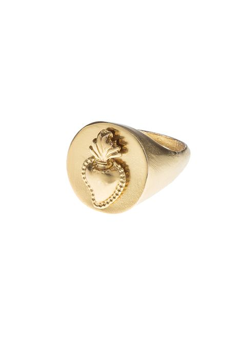 24kt gold plated ring NWOT Femarjo | Anello | SACRO CUOREORO