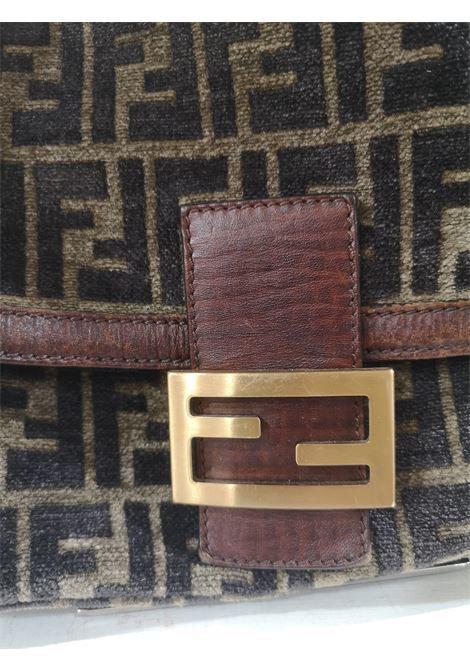 Fendi FF Suede and leather shoulder bag Fendi | Bags | AMGV021A8XS0CDFF