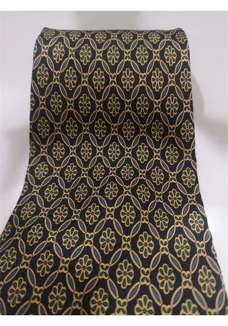 Fendi blue multicoloured silk tie Fendi | Cravatta | TIEBLUE