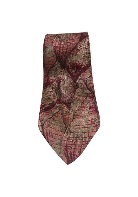 Fendi red multicoloured shells silk tie Fendi | Cravatta | TIEROSSO CONCHIGLIE