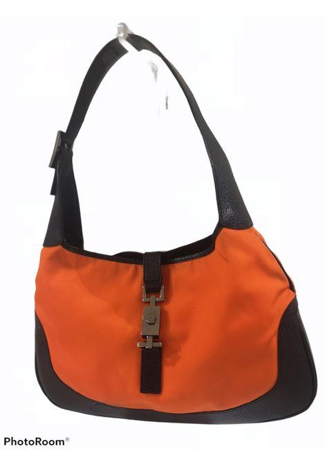 Gucci black leather orange fabric Jackie shoulder bag Gucci | Bags | AMGV02125ZADFJACKIE