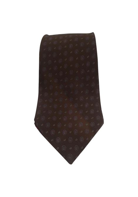 Gucci brown multicoloured silk tie Gucci | Cravatta | TIE1MARRONE
