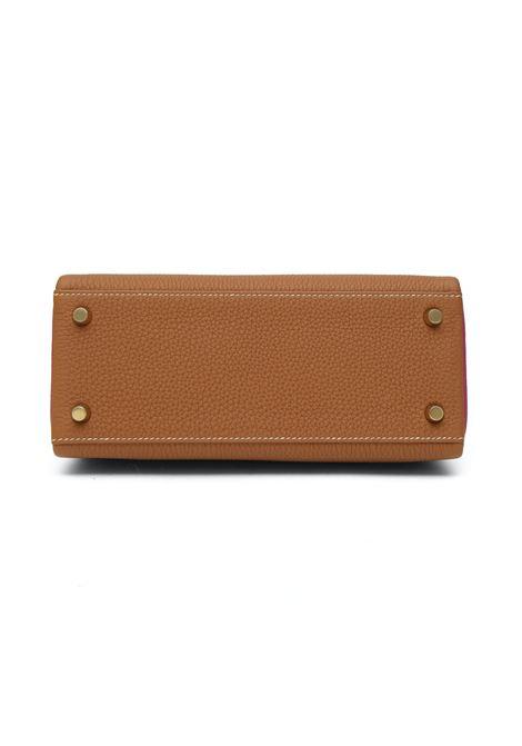 Hermès Kelly 25 special order, camel fucsia leather shoulder / handbag Hermes | Borsa | 25 SPECIAL ORDER BICOLORCAMEL FUCSIA