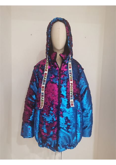 House of Mua Mua blue fucsia sequins bomber jacket House of Muamua | Jackets | BOMBERBLUE FUCSIA