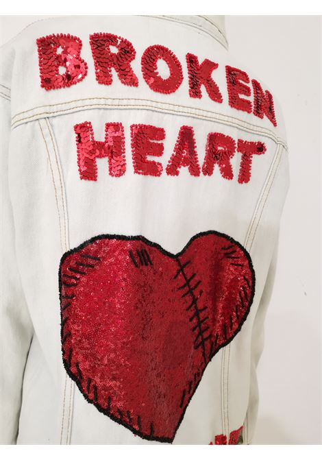 House of Muamua denim Broken Heart First aid sequins jacket House of Muamua | Jackets | BROKEN HEART 1ST1ST AID
