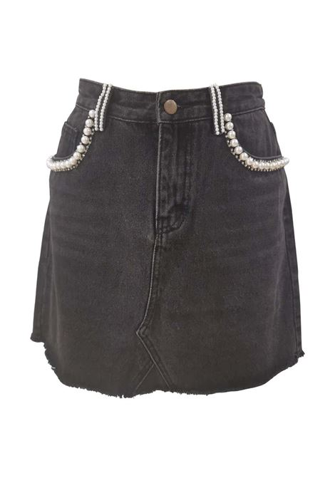 House of Mua Mua denim cotton with faux pearls skirt House of Muamua | Skirts | DENIM SKIRTDENIM