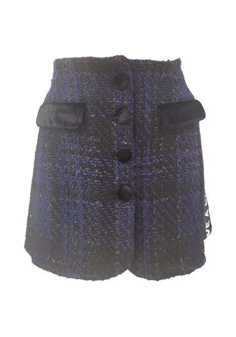 House of Mua Mua tweed skirt House of Muamua | Gonna | RWEEDBLU NERO