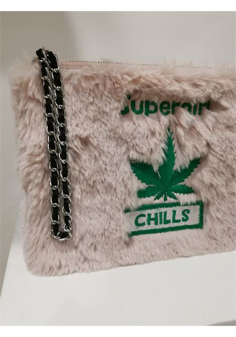 House of Mua Mua pink supergirl eco fur zip pochette House of Muamua | Bags | ZIPPOCHETTESMALL