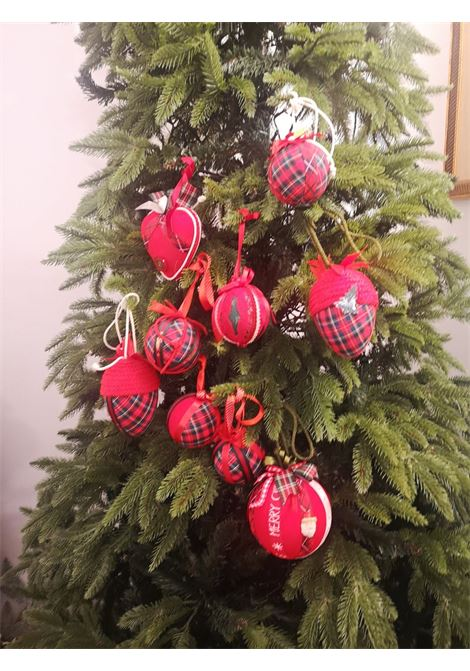 Christmas handmade set of nine ornaments HouseOfXmas | Decorazioni natale | SETOFNINEREDRED